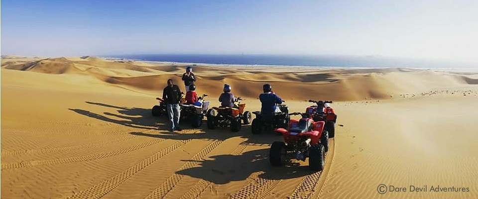 Unforgettable quad biking in the Namib dunes of Namibia