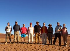 Africa Adventure Travel group in Sossusvlei, Namibia