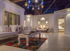 Lamu style interior at Alawi Boutique Hotel in Watamu