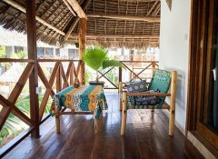 Private balcony at Aluna Beach Lodge in Nungwi Zanzibar
