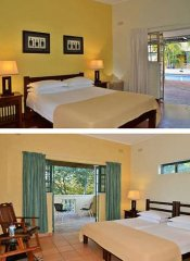 Pool room & family room at Amadeus Garden in Vic Falls