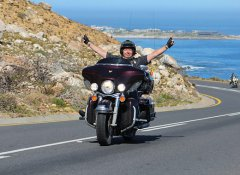 Ride the Chapmans Peak Drive with Amakhaya Harley Tours