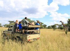Game drive at Antelope Park in Gweru in Zimbabwe