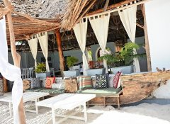 Aya Beach Bungalows and al fresco dining in Zanzibar