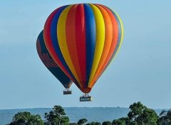 With Besh African Adventures on balloon safari in Africa