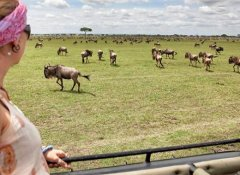 With Biko Adventures Tours at the migration in Tanzania