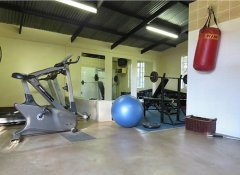 Gym at Brackenhill Lodge in Mbabane, Swaziland, eSwatini