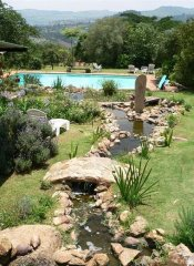 Pool in indigenous garden at Brackenhill Lodge, eSwatini