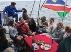 Snacks and bubbly on boat trips with Catamaran Charters