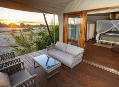 Luxury tent at Chikunto Safari Lodge in South Luangwa