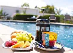 Pool breakfast at Christofphs Guesthouse in Bonnievale