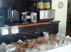Breakfast buffet at Delagoa Bay City Inn in Mozambique