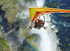 Above the Victoria Falls on Escape to Adventure Safaris