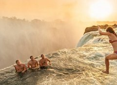 Escape to Adventure Safaris' Devil's swim in Livingstone