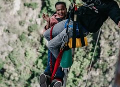 Bungy jump harness from Face Adrenalin Garden Route