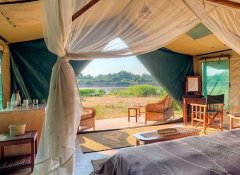 Safari tent at Flatdogs Camp game lodge in South Luangwa