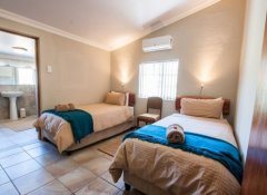 Twin Room at Fossil Hills Wine Farm Accommodation