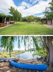 Garden and kayaking at Fossil Hills in McGregor