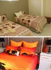 Twin room and double room at Grey Oak Holiday House