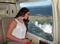Helicopter flight at Vic Falls with Intondolo Safaris
