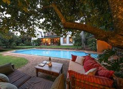 Garden with pool at Karen Gables Nairobi accommodation