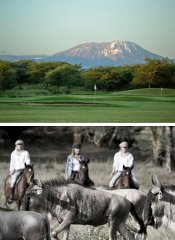 18-hole golf course, game viewing & riding at Kili Villa