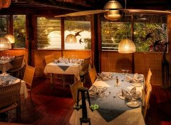 Dine at Kubu Lodge in Kasane with Chobe River view