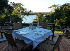 Full board at Kubu Lodge and al fresco dining in Kasane