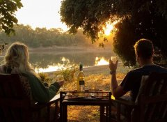 Marula Lodge - sun downer at the riverside