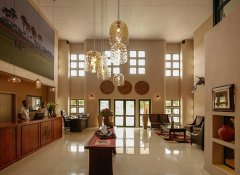 Modern reception area at Maun Lodge at Okavango Delta