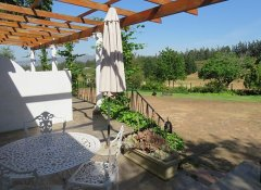Private patio at Modderkloof Farm Accommodation in Paarl