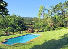 Swimming pool in garden of Modderkloof Farm Accommodation
