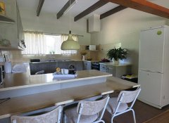 Family apartment kitchen at Modderkloof Farm in Paarl