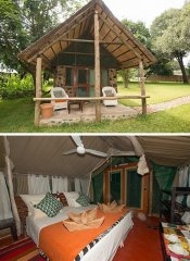 Family cottage at Mvuu Lodge in Lower Zambezi Region