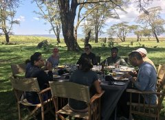 Bush dining with Northland Tanzania Safaris from Arusha
