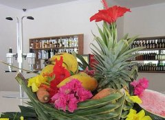 Exoctic fruit and bar at Oceanic Bay Hotel in Bagamoyo