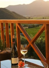 Wine and Sunset at Orange Grove Farm in Robertson