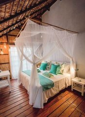 Double room at Paradise Dunes for self-catering in Tofo