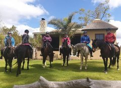 Perdepoort Horse Trails's child-friendly horse riding