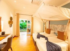 Twin room at PheZulu Guest Lodge in Victoria Falls