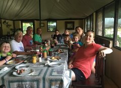 Family dining at Redcliff Zambezi Lodge in Luangwa