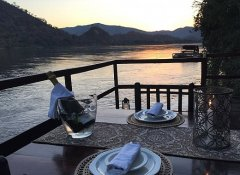 Dining for two at Redcliff Zambezi Lodge in Luangwa