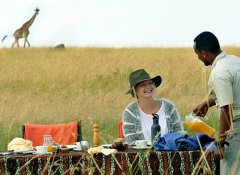Bush dining with Regional Tours & Safaris in Tanzania