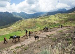 Hiking the Lesotho mountains