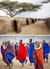 Maasai houses on a tailored Safari By Z in Tanzania