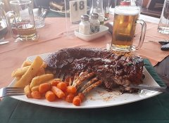 Steak dish at Skubbe Pub & Grill in Henties Bay