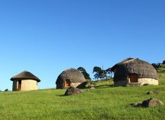 African style huts at Sobantu Guest Farm in Piggs Peak