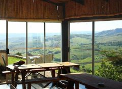Dining area at Sobantu Guest Farm, Piggs Peak, Swaziland