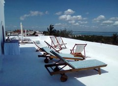 Large terrace with sea view at Terraco das Quitandas