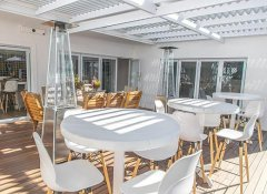 Terrace with barbecue at theLab Franschhoek guesthouse